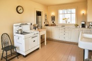Our recreated 1930s kitchen photographed by Michael D. Wilson for Down East magazine.