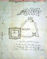 A 1780 map of Fort St. George by Major Benjamin Tallmadge.    SUNY Stony Brook University Library