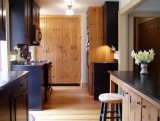 Our first kitchen featured a large custom pine pantry.