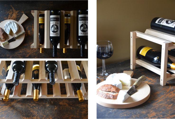handcrafted wine racks