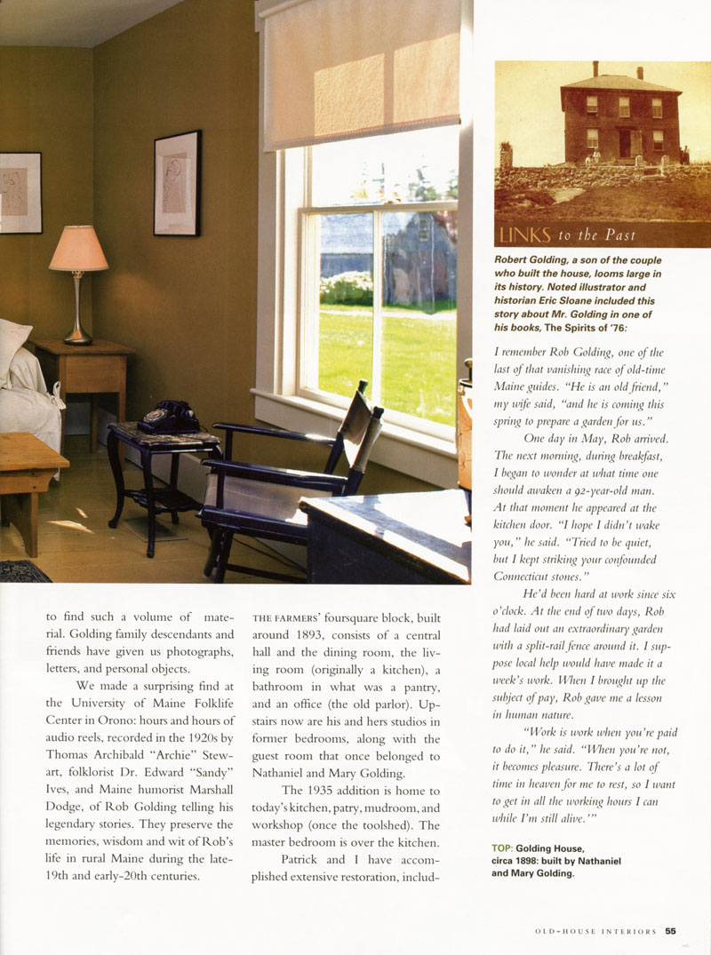 old house interiors article july 2009 pg 55 fine artist made